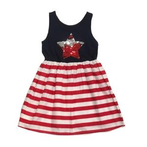 Children's Place Americana Star Dress S(5/6)